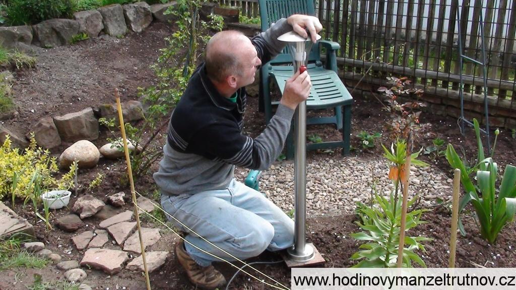 Montáž zahradního osvětlení